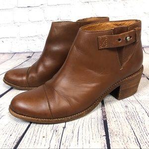 Madewell Dakota Cutoff Brown Ankle Boots